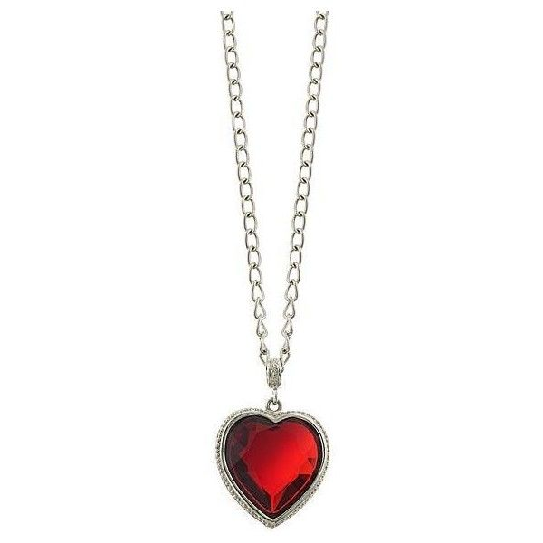 1928 Long Red Crystal Swarovski Heart Necklace ($35) ❤ liked on Polyvore featuring jewelry, necklaces, accessories, colares, red, chain necklace, heart pendant necklace, heart pendant, heart necklace and red heart necklace
