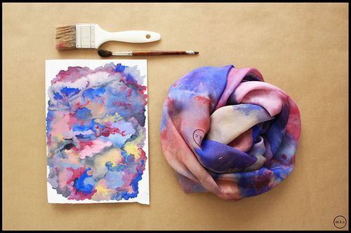 Watercolor brushes, unique mixture scarves created by #MKE #greekbrandnew #GBN17 #greeksummer #scarf #madeinGreece
