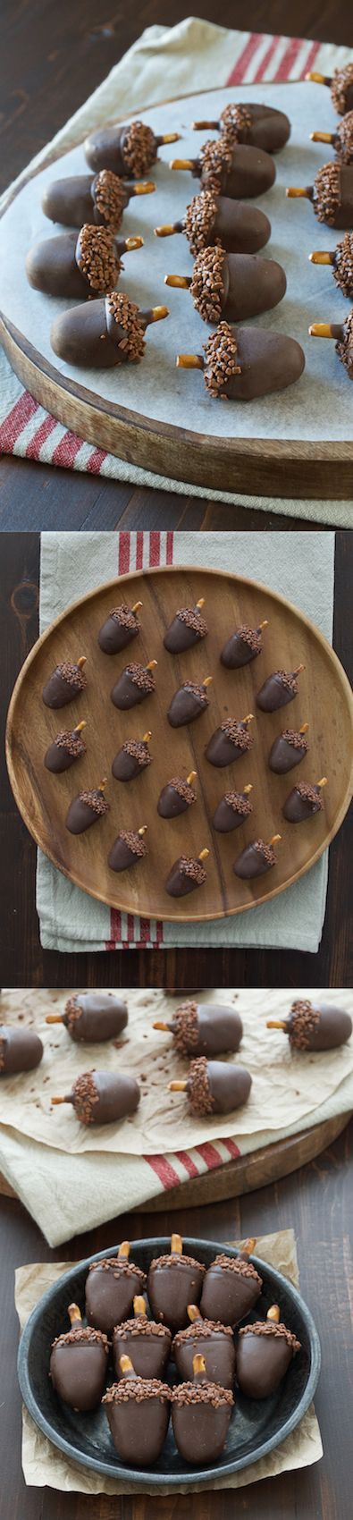 These are SO adorable! Peanut butter oreo balls made to look like acorns!! #dessert #recipes #delicious #healthy #recipe