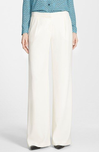 Halogen® Pleat Front Wide Leg Pants (Regular & Petite) available at #Nordstrom
