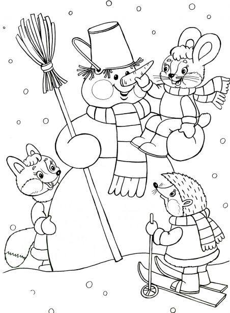 sneeuwpop kleuren met kleuters