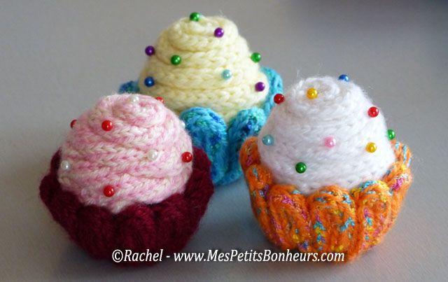 Cupcakes bricolage laine et tricotin