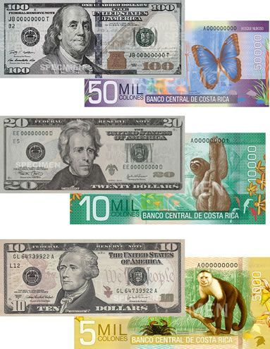 Let's make it easy to convert US Dollars to Costa Rican Colones! When exchange rate is ¢500 x $1
