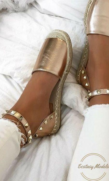 Rose Gold Sandals from http://lavishluxe.co.uk