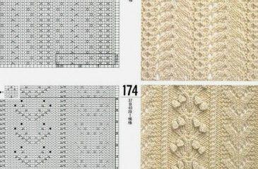 Условные обозначения петель при вязании спицами