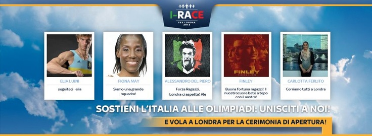 Support the Italian Olympic Team by joining Sky I-RACE! Check out the link: http://i-race.sky.it/  #skyirace #Olympics #Italy