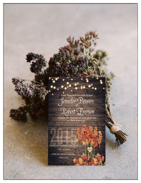 top 10 chic country rustic wedding invitations with rsvp cards - Country Rustic Wedding Invitations