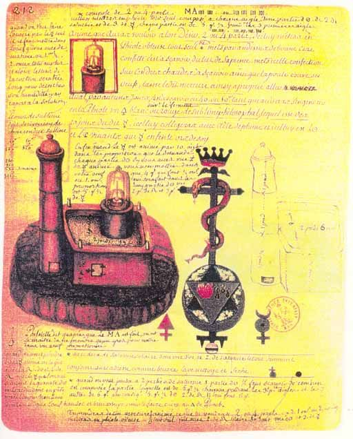 alchemical drawings by Nicolas Flamel (1330?-1418)
