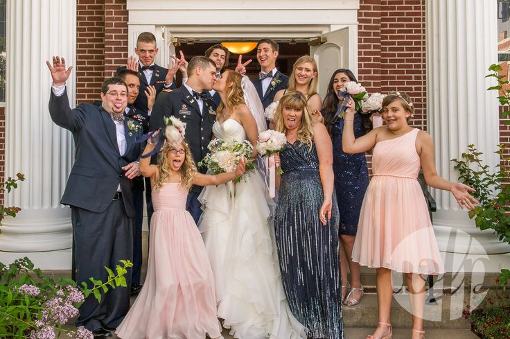 A wonderfully adorable group shot from Bentonville, AR. wedding. Photo by Whitney Flora Photography.