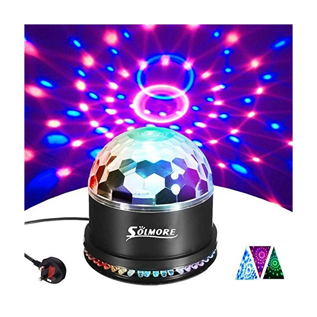 Disco Lights SOLMORE 51 LEDs Disco Ball Light 12W RGB Party Stage