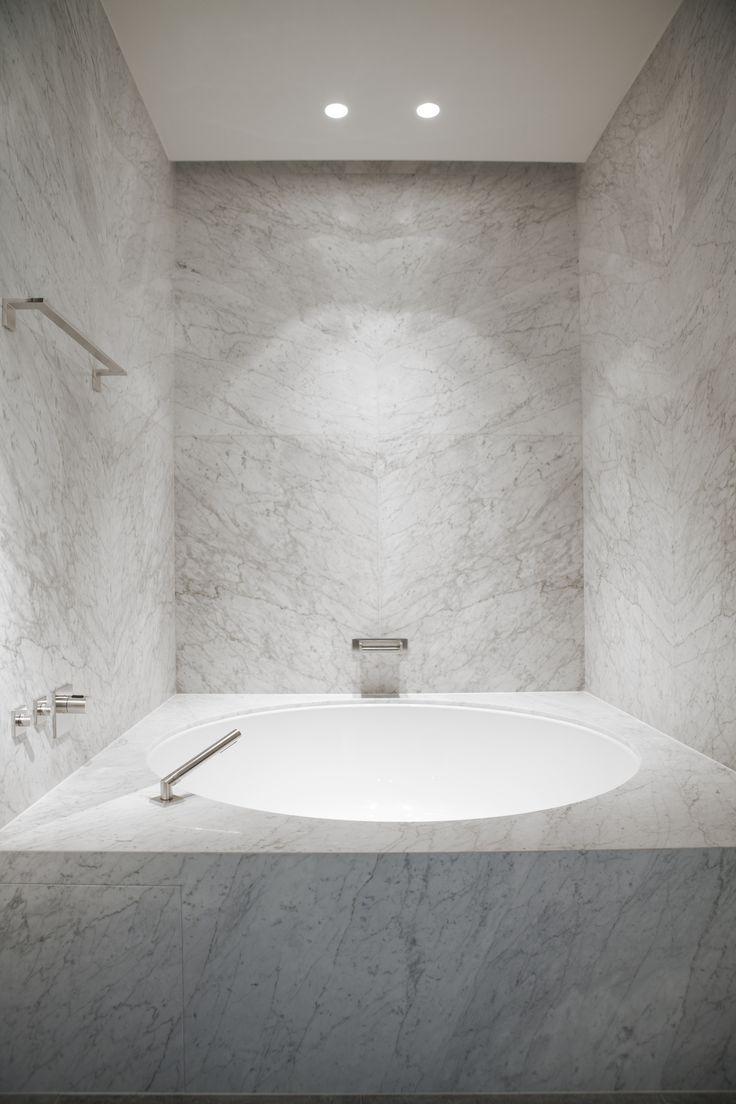 Byron & Jones Interiors - Marble - White - Bathroom - Jacuzzi