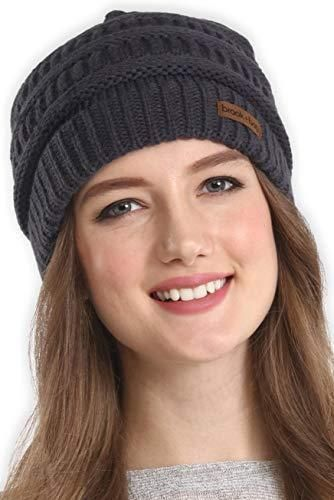 860a6b28483 Brook Bay Cable Knit Multicolored Beanie Stay Warm   Stylish Thick Soft  Chunky  BrookBay
