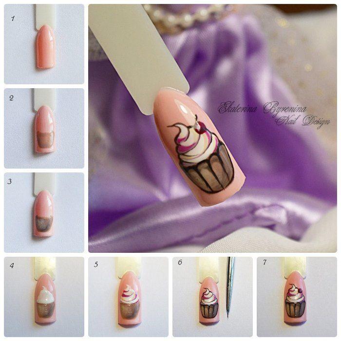 Дизайны ногтей пошагово в картинках