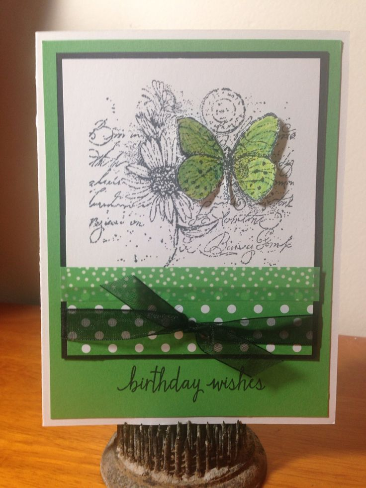 Happy Birthday using Stampin Up Garden Collage (retired ...