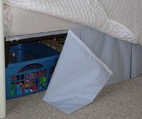 No dew bed skirt for day bed. Adah's room needs this