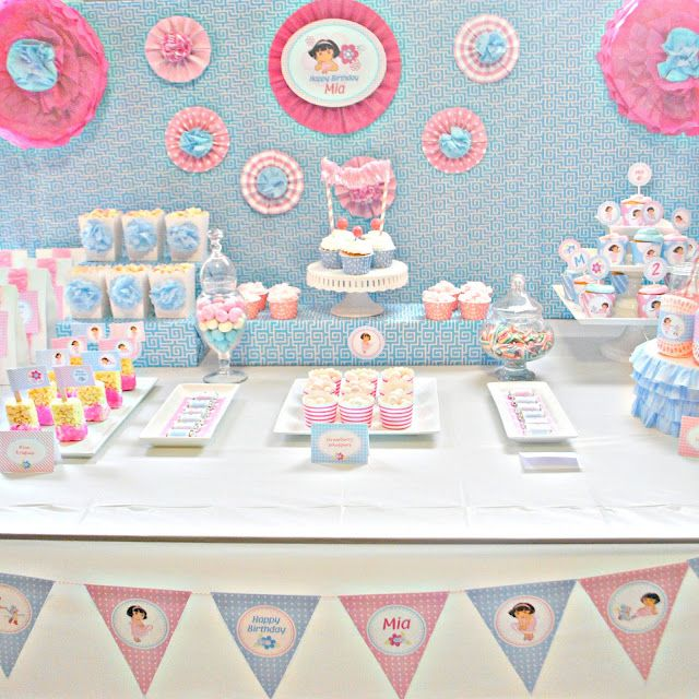 Girly Dora the Explorer Birthday Party