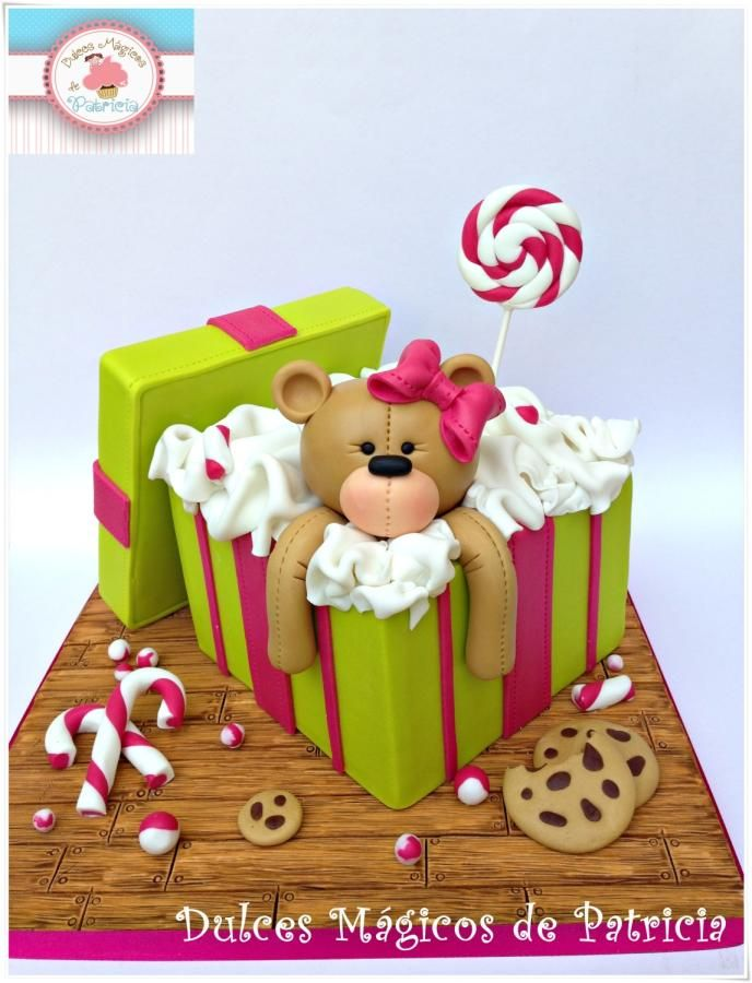 Best 25 gift box cakes ideas on pinterest beautiful birthday teddy gift box cake cake by dulces mgicos de patricia negle Image collections