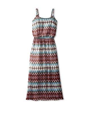 65% OFF Vintage Havana Girl's 7-16 Printed Maxi Dress (Pastel Stripe)