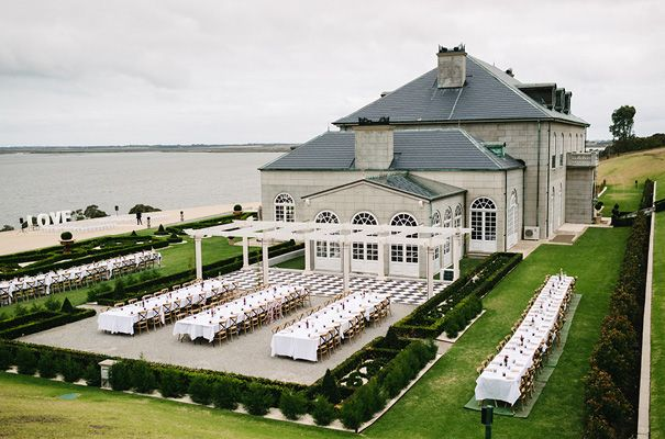Campbell point house | glamorous mansion wedding | waterfront estate reception
