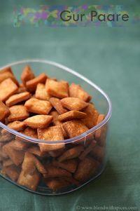 A sweet cracker with cardomom. Gur Para Recipe - How to Make Gur Pare - Step by Step Recipe - Holi Recipes | Indian Cuisine