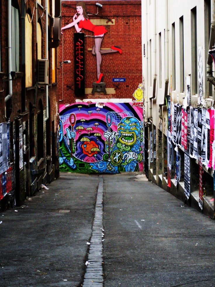 AC/DC Lane, Melbourne - unfortunately it looks different now due to construction work