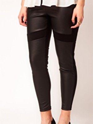 Slideshow: Margie Plus: Leather Leggings