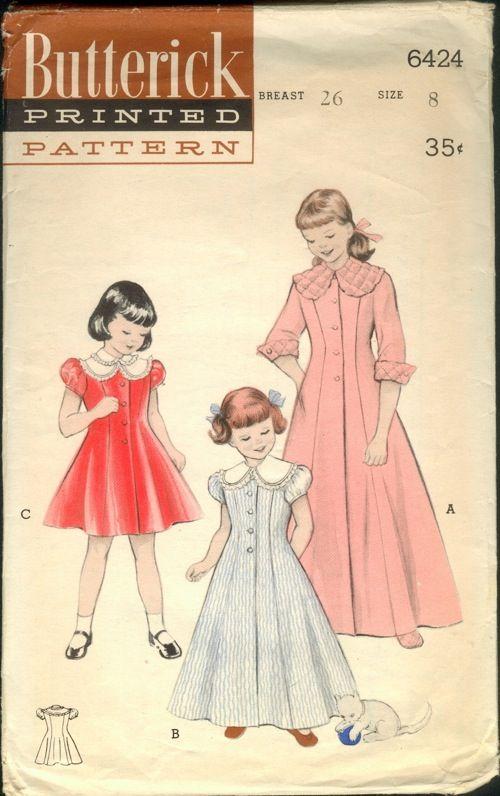 Butterick 6424 Vintage 1950 1954 Butterick Patterns