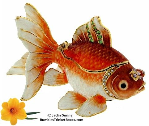 Pompon Goldfish jewelry box, or is this a Fantail with a tiara?