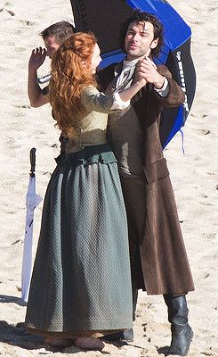 Poldark series 2: Aidan Turner shares romantic kiss with on-screen wife Eleanor…
