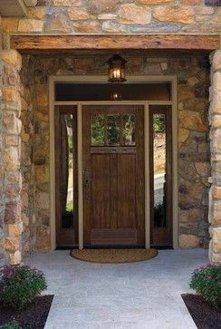 33 best rustic ranch style houses images on pinterest for Front door styles for ranch homes
