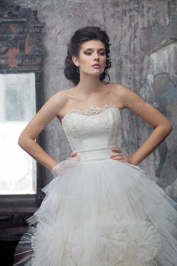 Wedding dress Designer wedding dress gown Tulle by CoconBridal