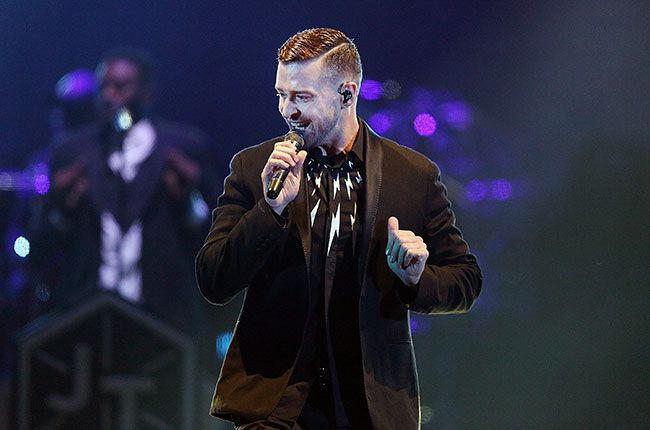 Justin Timberlake sings live at the opening show of his 20/20 Experience World Tour at Etihad Stadium in Melbourne, Australia.