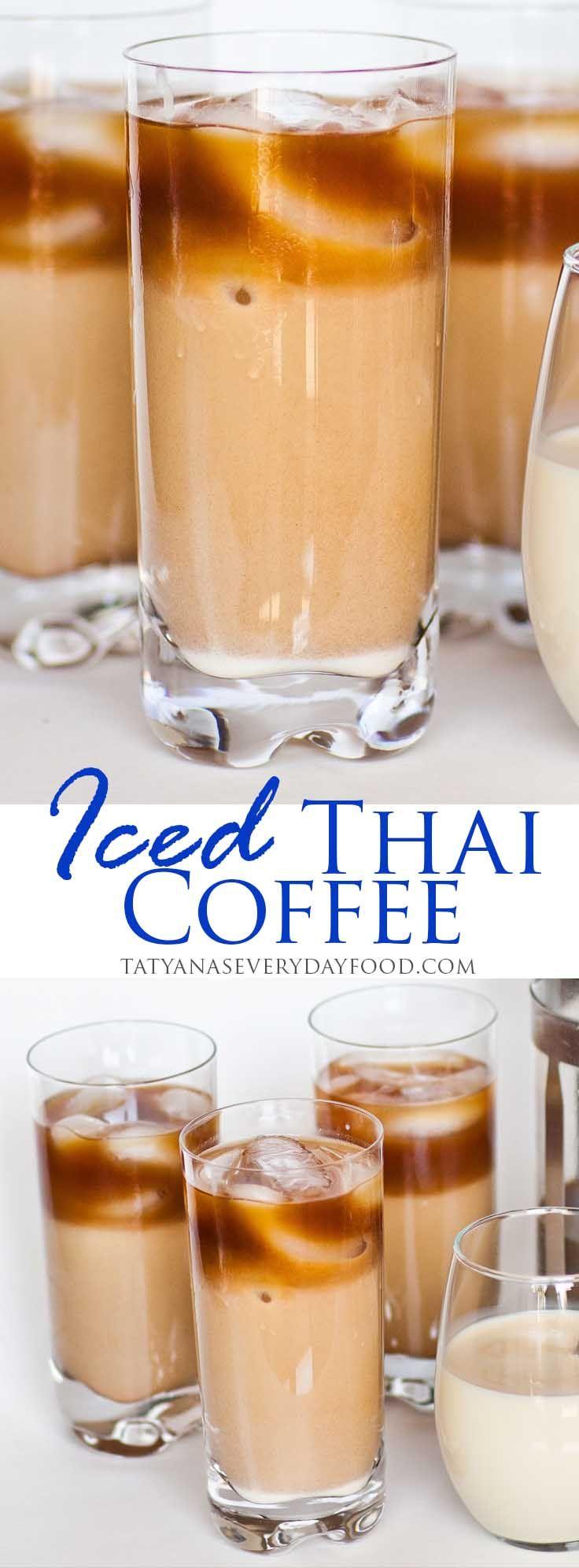 Iced Vanilla Thai Coffee - Tatyanas Everyday Food