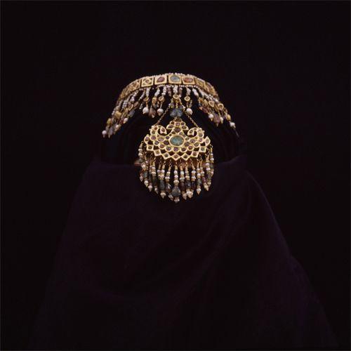 The Uzbek Bride wearing a Bukharan Wedding Crown, early XX th Century