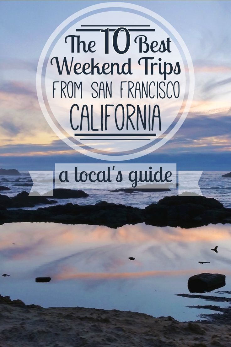 California is the perfect playground for travel lovers & outdoor enthusiasts. A local's guide to the 10 best weekend trips from the San Francisco Bay Area!