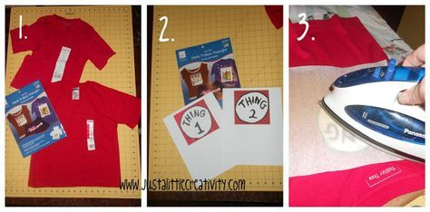 Just a little Creativity: Make a No-Sew Dr. Seuss Shirt {Thing One and Thing Two}