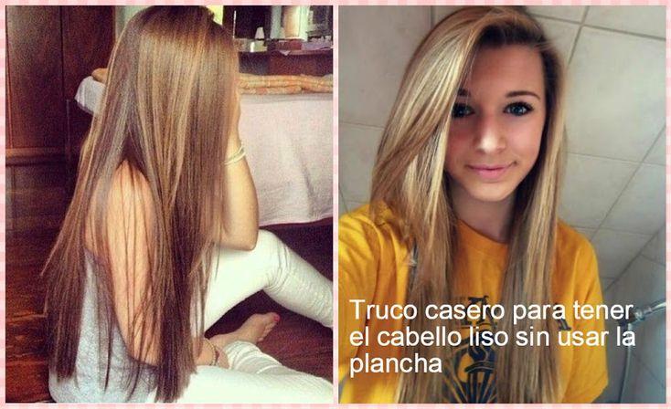 """Cómo alisar el cabello sin utilizar el calor de la """"plancha"""" y no dañarlo   Belleza"""