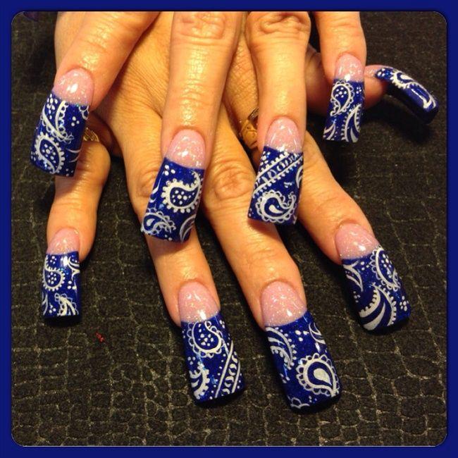 Acrylic Nail Art Designs Gallery: 17 Best Ideas About Bandana Nails On Pinterest