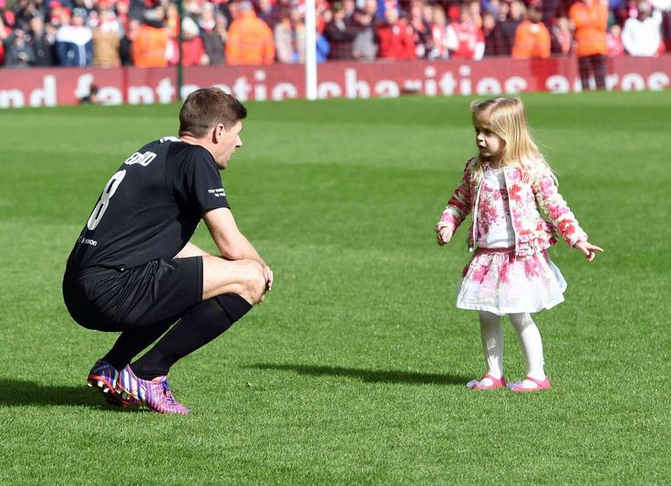 Steven Gerrard and his daughter, Lourdes