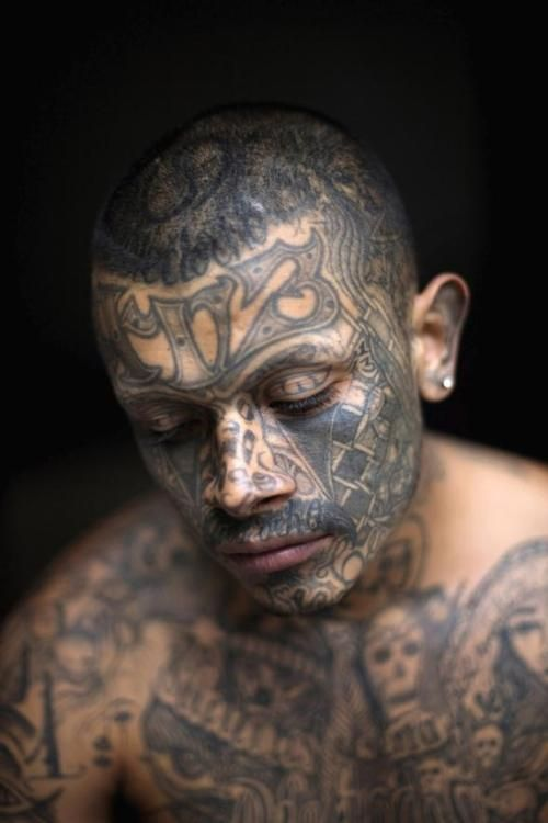 Spectacular photograph. There's this extreme tattoo engulfing this tender, gentle face...really a beautiful juxtaposition.