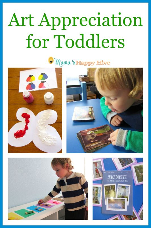 A study on Montessori art appreciation for toddlers and preschoolers. This unit study includes hands-on art activities with exposure to artists like Monet. - www.mamashappyhive.com