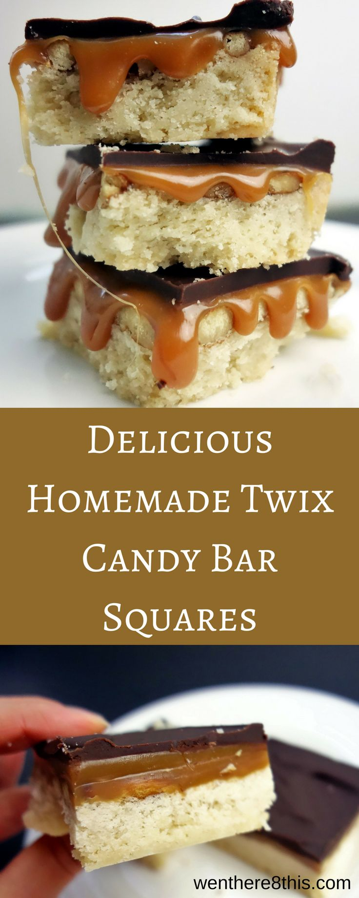 The most amazing Homemade Twix Candy Bar Squares homemade candy bars, candy bar recipes, shortbread recipes, twix candy bar recipes, millionaire shortbread recipes, caramel desserts, chocolate desserts, homemade twix bars easy, homemade twix bars recipes