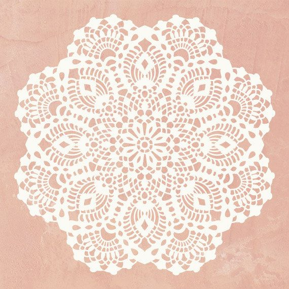 Wall Art Motif Stencil Lace Victoria Doily by royaldesignstencils