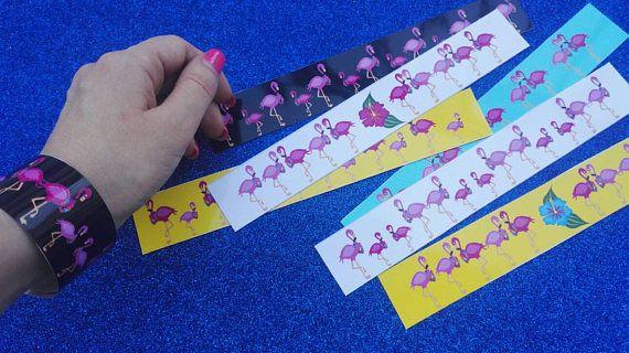 Pink flamingos bracelets!Pink flamingos  Hen party bracelets! Pink flamingos party! Pink flamingos accessories! Hen party idea!