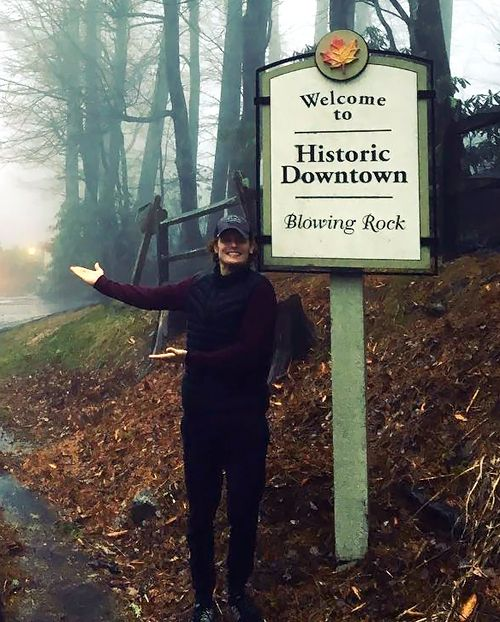 "samheughan ""Go to Blowing Rock, Diana said… It's beautiful, Diana said… Nothing like Scotland, Diana said…#rain #FindingFraserRidge ☔️ 