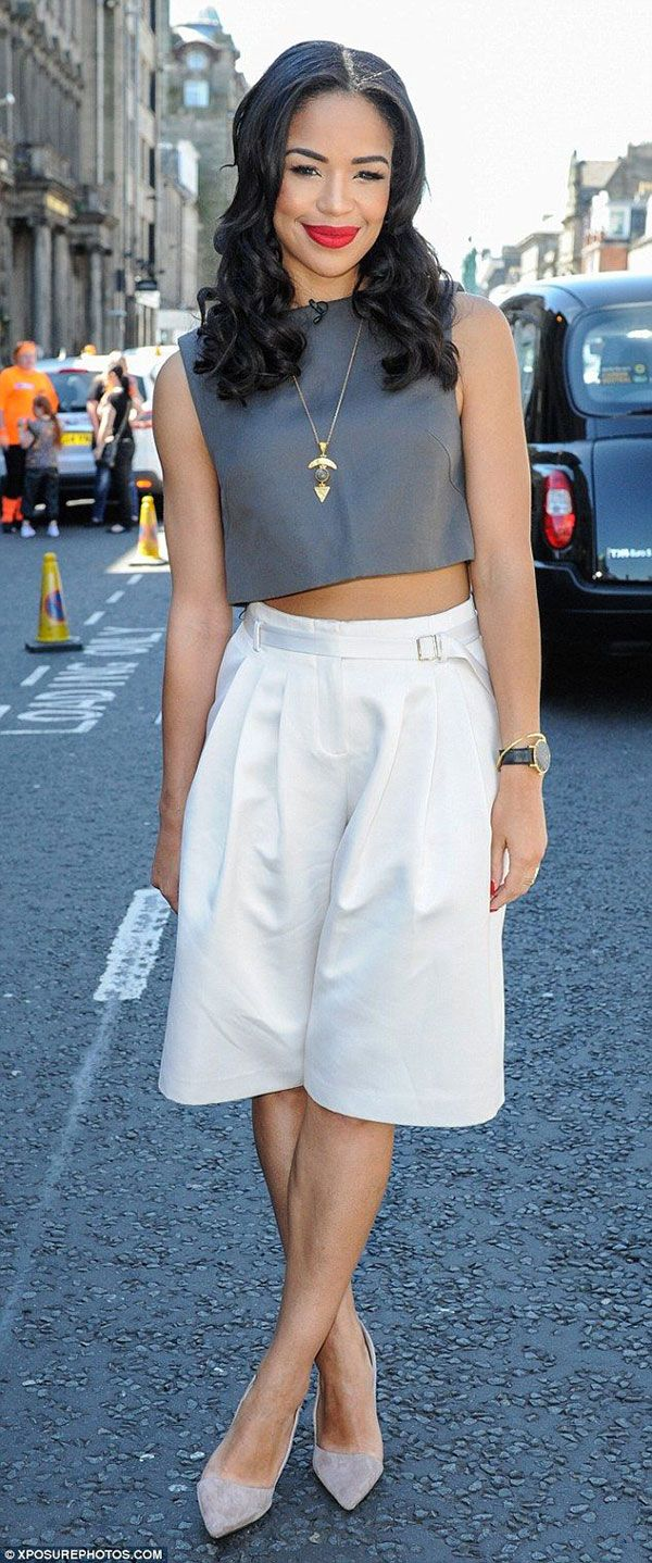 White t shirt fashion tips - 20 Style Tips On How To Wear Culottes