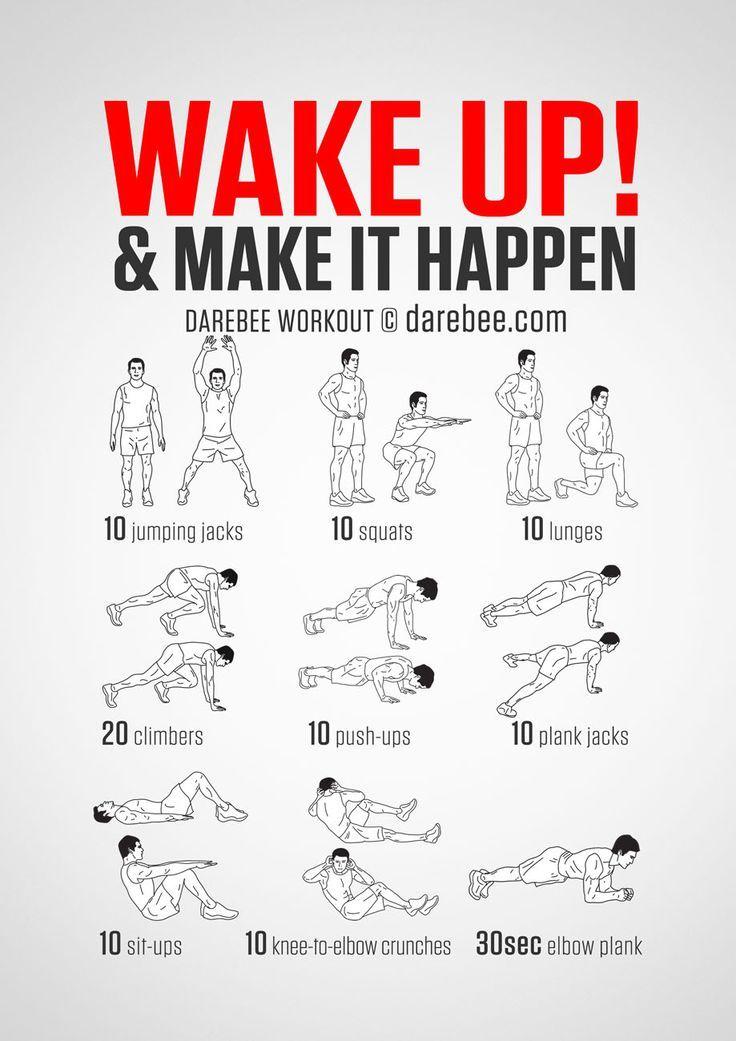 25 + › Körpergewichtstraining ohne Ausrüstung für einen guten Start in den Morgen. Berüchtigte W …