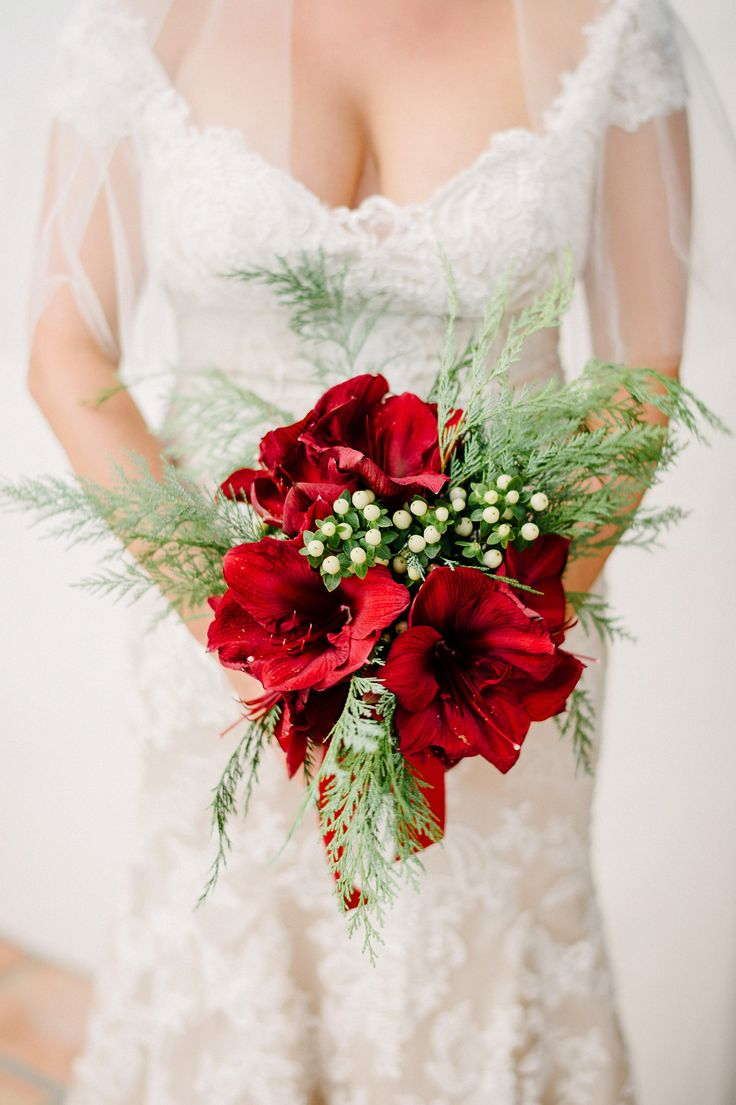 11 best jon and andrea images on pinterest winter weddings christmas inspired red amaryllis bouquet junglespirit Gallery