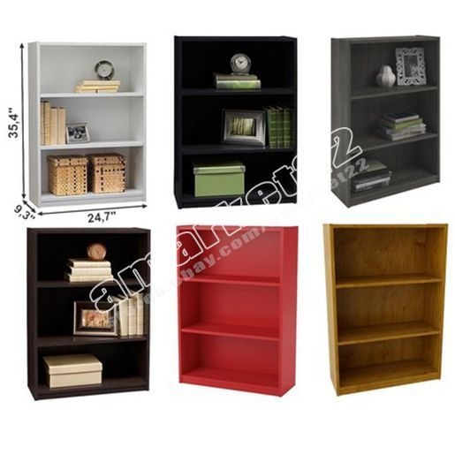 Bookcases 3199: 3 Shelf Bookcase Storage Furniture Bookshelf Bedroom Wood Black White Brown New -> BUY IT NOW ONLY: $46.99 on eBay!