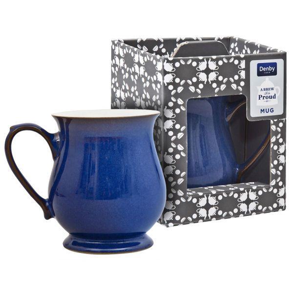 Denby Imperial Blue Craftsman Mug Gift Boxed